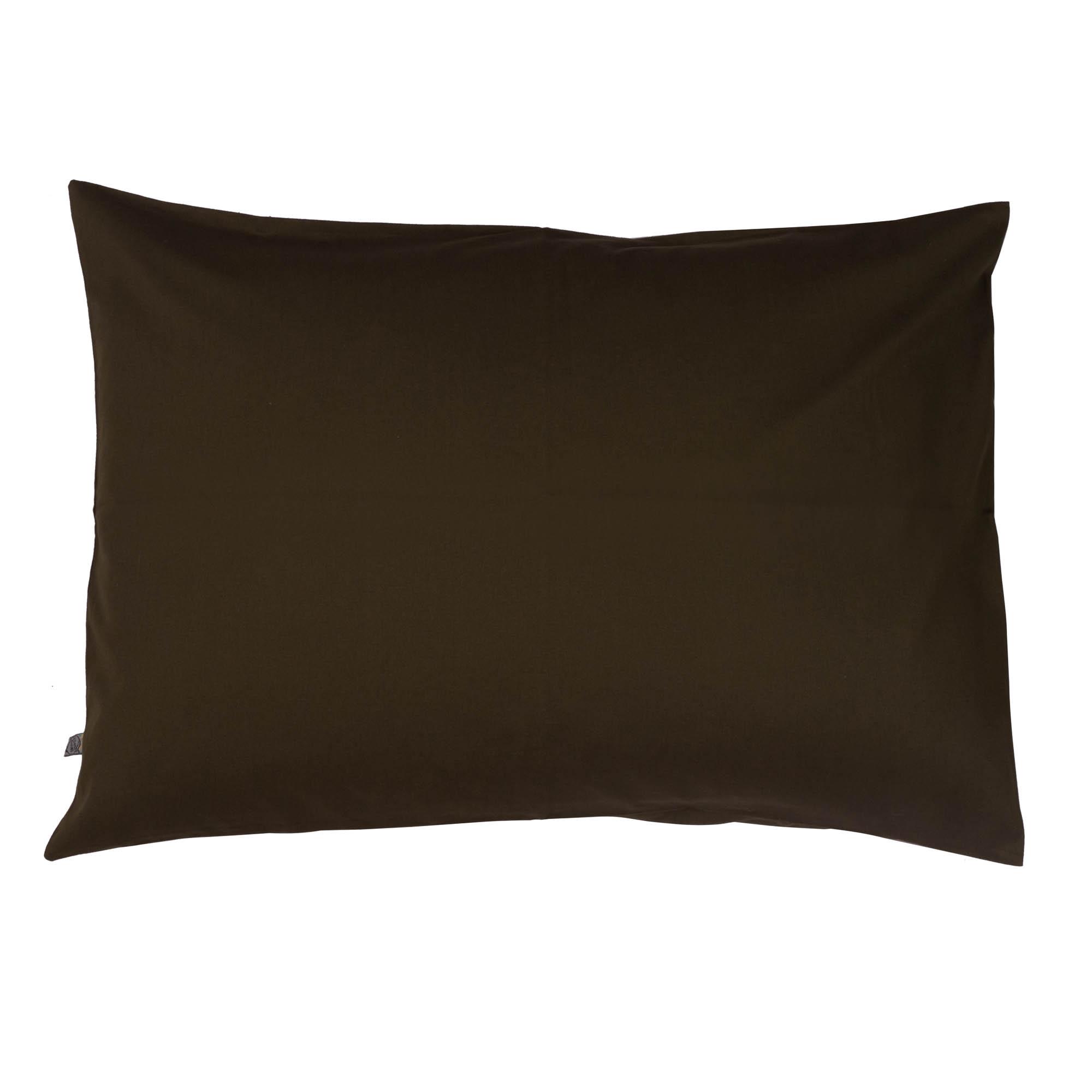 Porta travesseiro liso verde militar