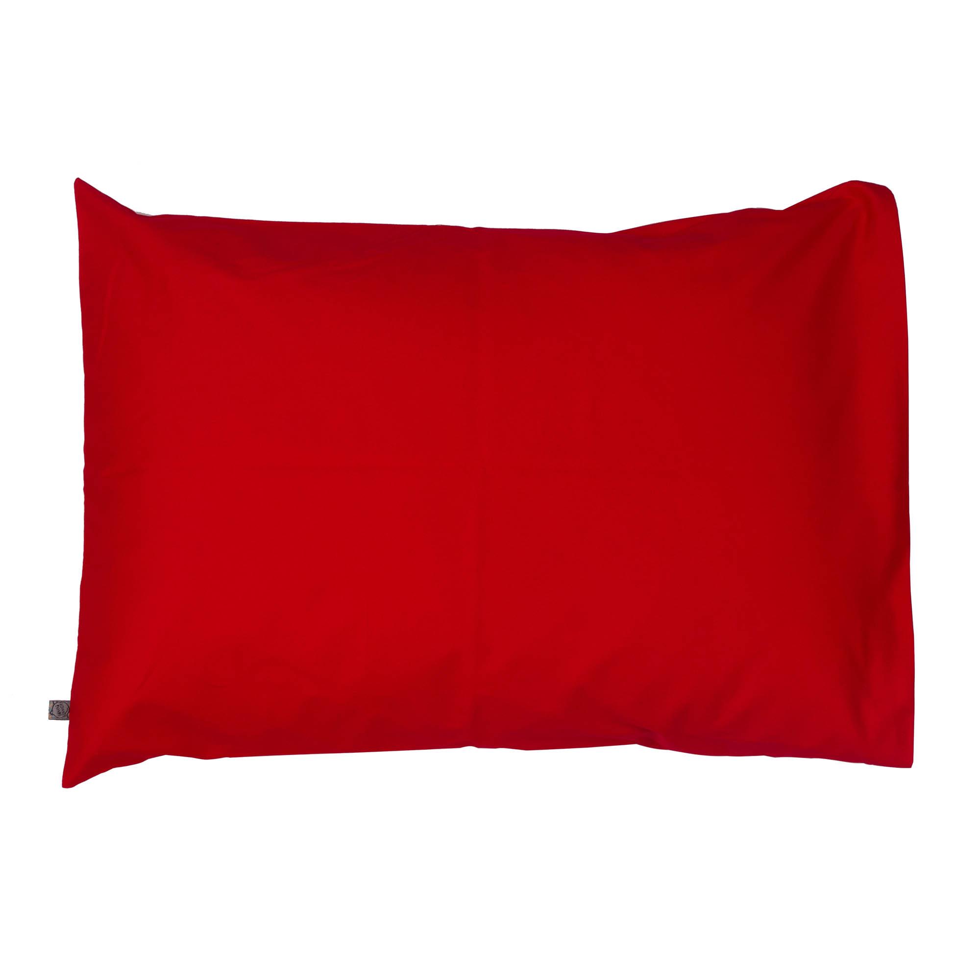 Porta travesseiro liso vermelho