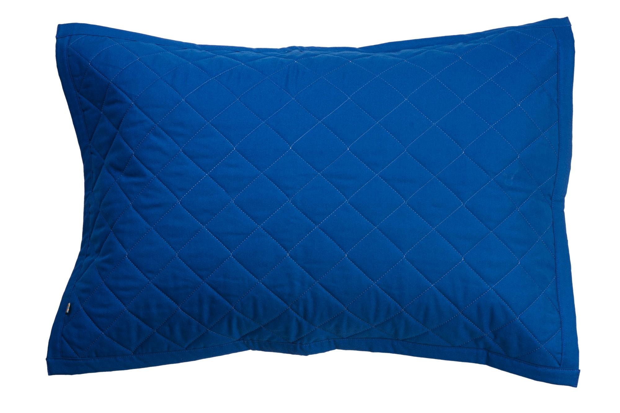 Porta travesseiro matelassê azul clássico e verde água