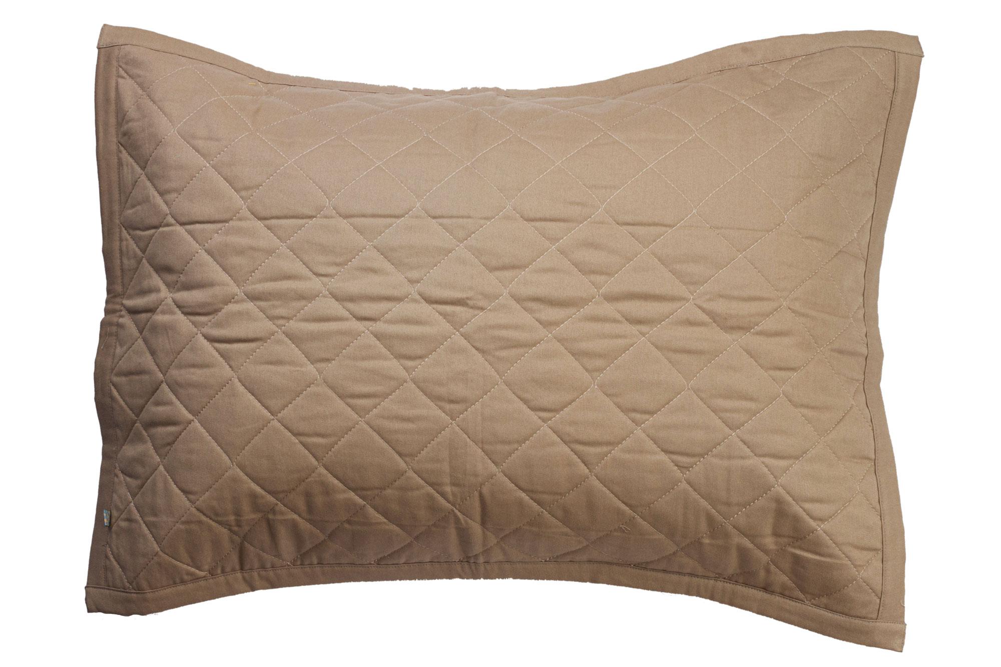 Porta travesseiro matelassê capuccino e areia