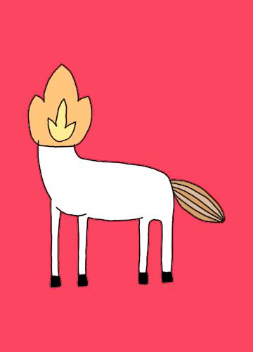 Pôster Mula-sem-cabeça Cor