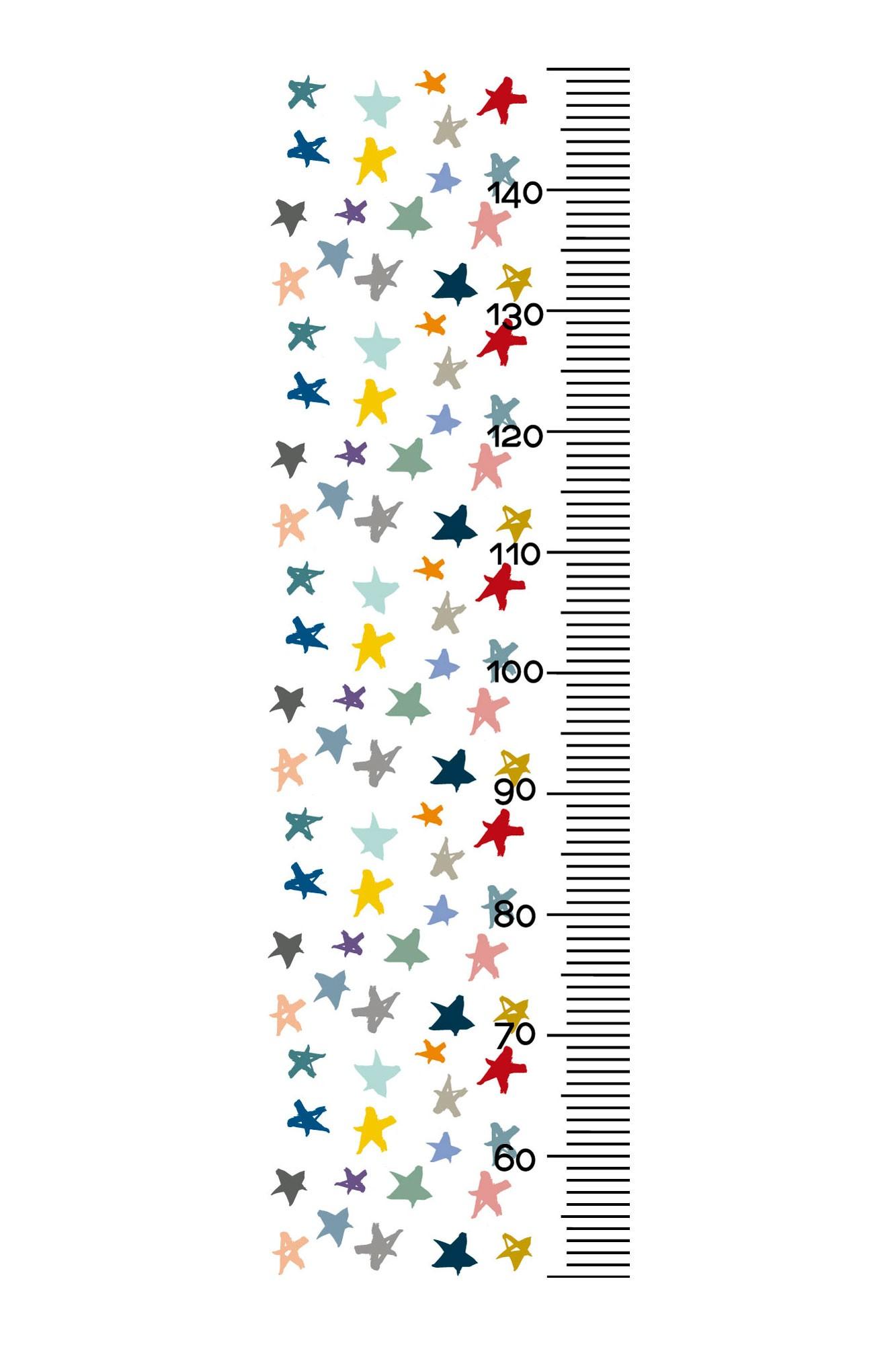 Régua de altura chuva de estrelas