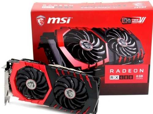 Placa de Video MSI RX 480 GAMING X 8GB