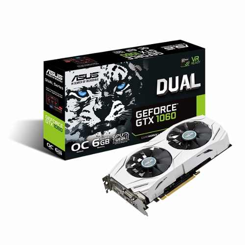 Placa de Video Asus GTX 1060 DUAL 6gb Nvidia Geforce