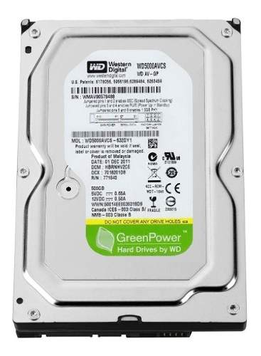 HD 500GB WESTERN DIGITAL 7200RPM SATA III WD5000AVCS