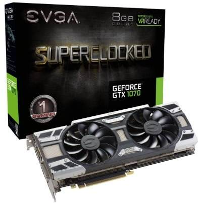 Placa de Vídeo EVGA GTX 1070 SC 8GB