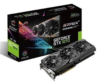 Placa de Vídeo Asus GTX 1070 STRIX 8GB