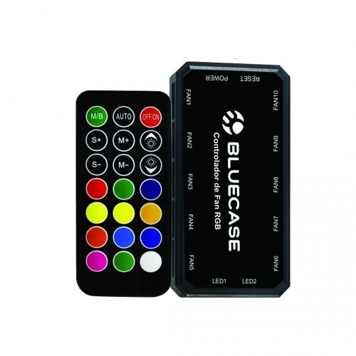 Controlador de Ventoinha Fan com Controle Remoto Suporta até 10 Ventoinhas BLUECASE BCF-02