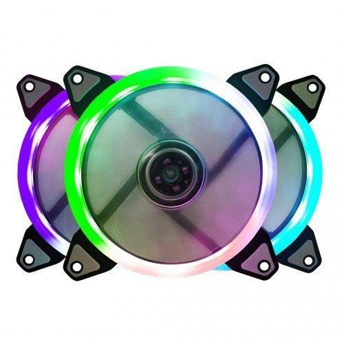 Cooler Fan Bluecase Ring BFR-07RGB RGB Automático