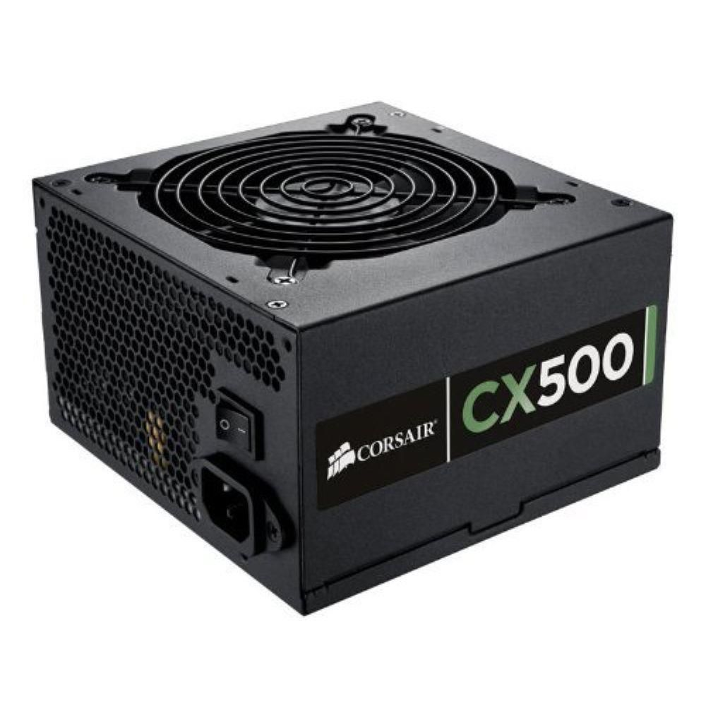FONTE CORSAIR CX500w CERTIFICADO 80 PLUS BRONZE PFC ATIVO