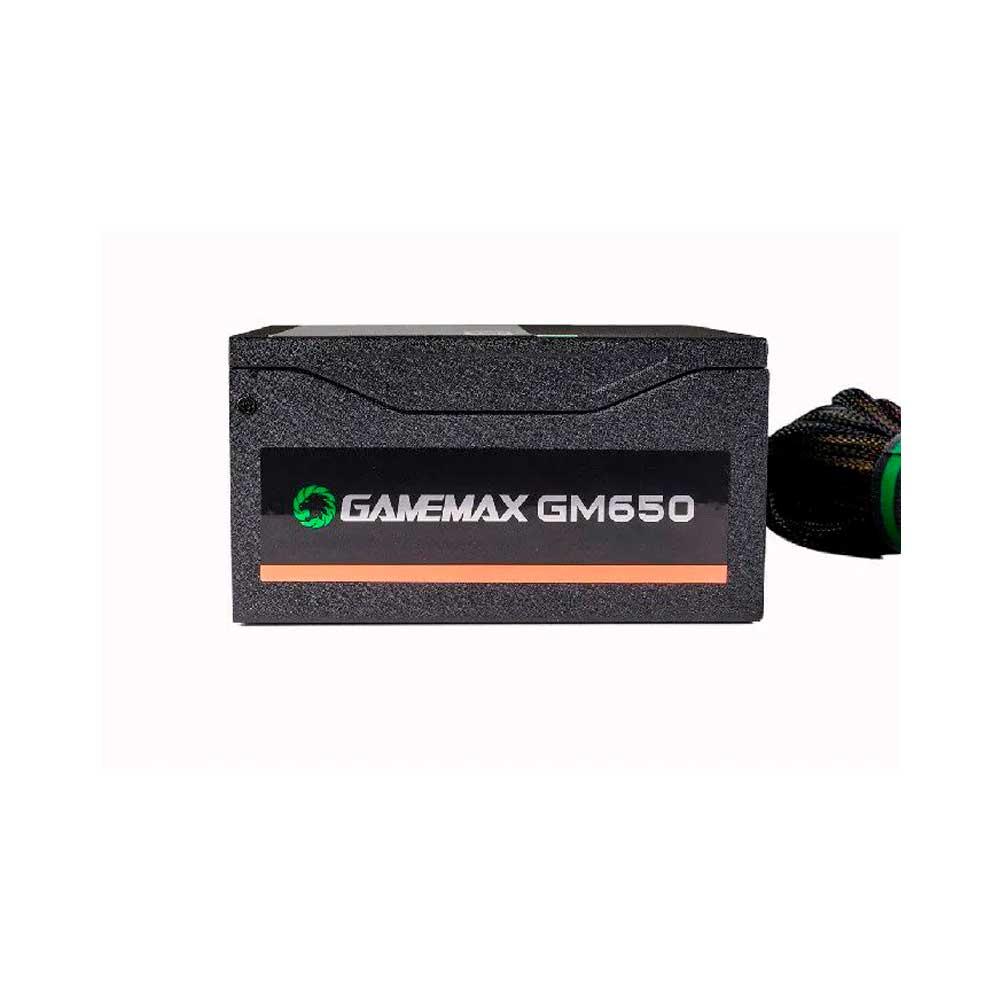 FONTE DE ALIMENTACAO GAMEMAX GM650 650W BOX 80 PLUS BRONZE C/PFC PRETA