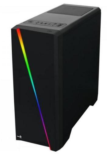 GABINETE GAMER AEROCOOL CYLON RGB MID TOWER COM 1 FAN LATERAL EM ACRÍLICO
