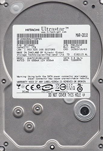 HD 1TB HITACHI ULTRASTAR 7200RPM SATA II HUA721010KLA330