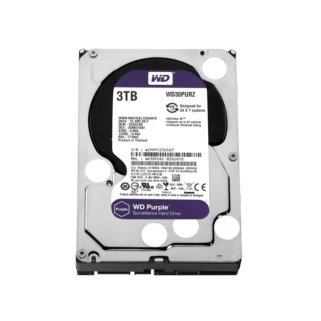 HD WD PURPLE 3TB 3.5