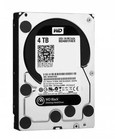 Hd Wester Digital Interno 4tb Pc 3.5 7200rpm 64mb Sata3  Black