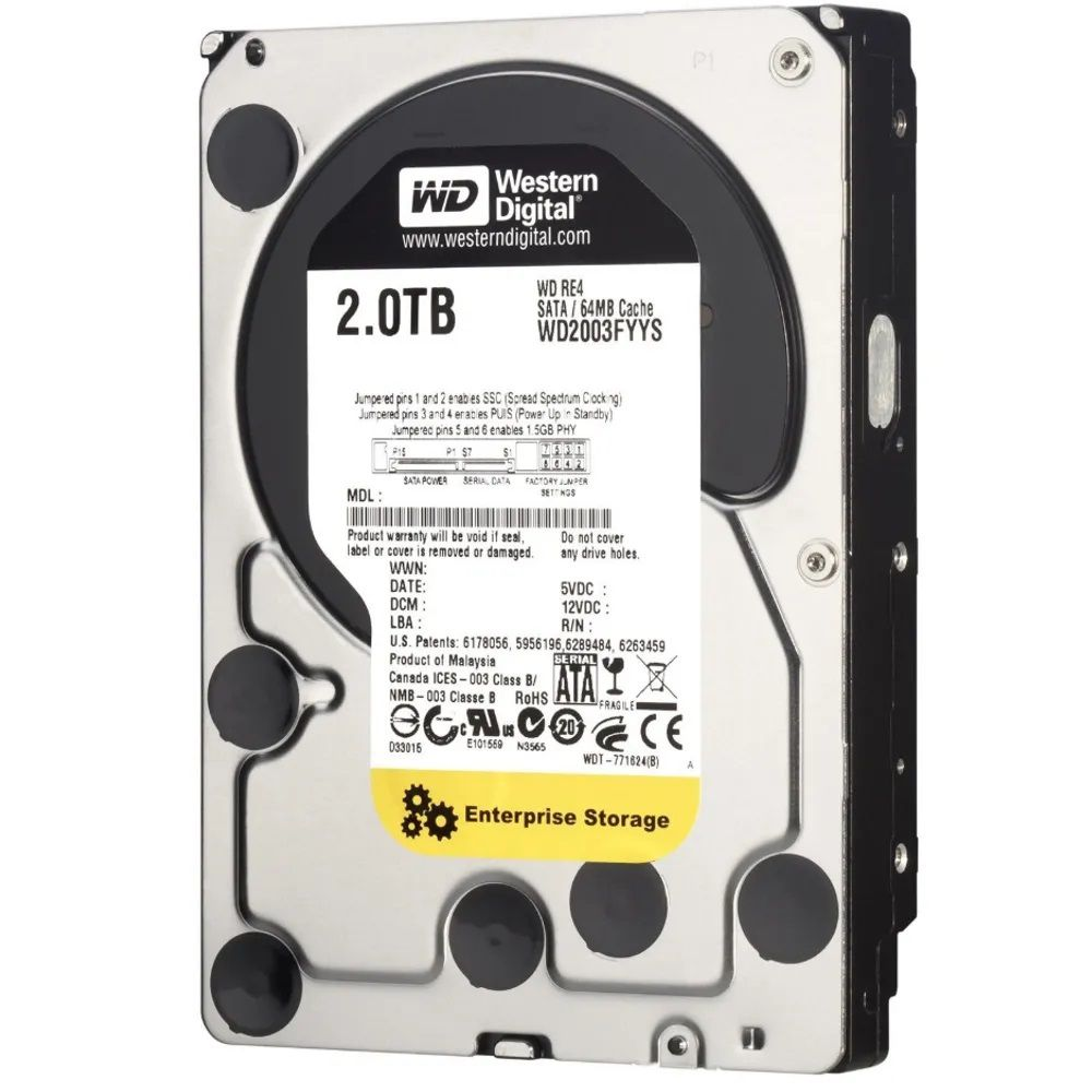 HD WESTERN DIGITAL 2TB ENTERPRISE 7200RPM