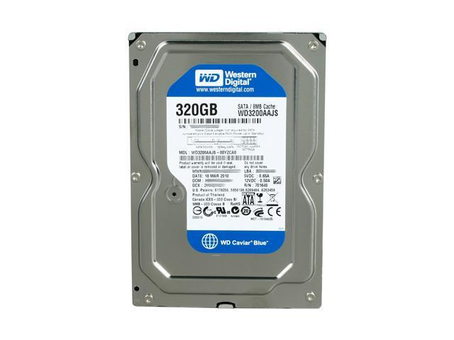 HD Western Digital 320Gb 7200RPM Cache 8MB SATA 3.0Gb/s