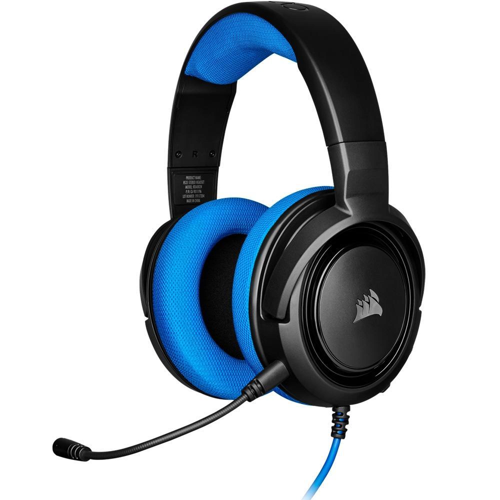 HEADSET GAMER CORSAIR HS35 STEREO PS4/PC/MOBILE PRETO/AZUL