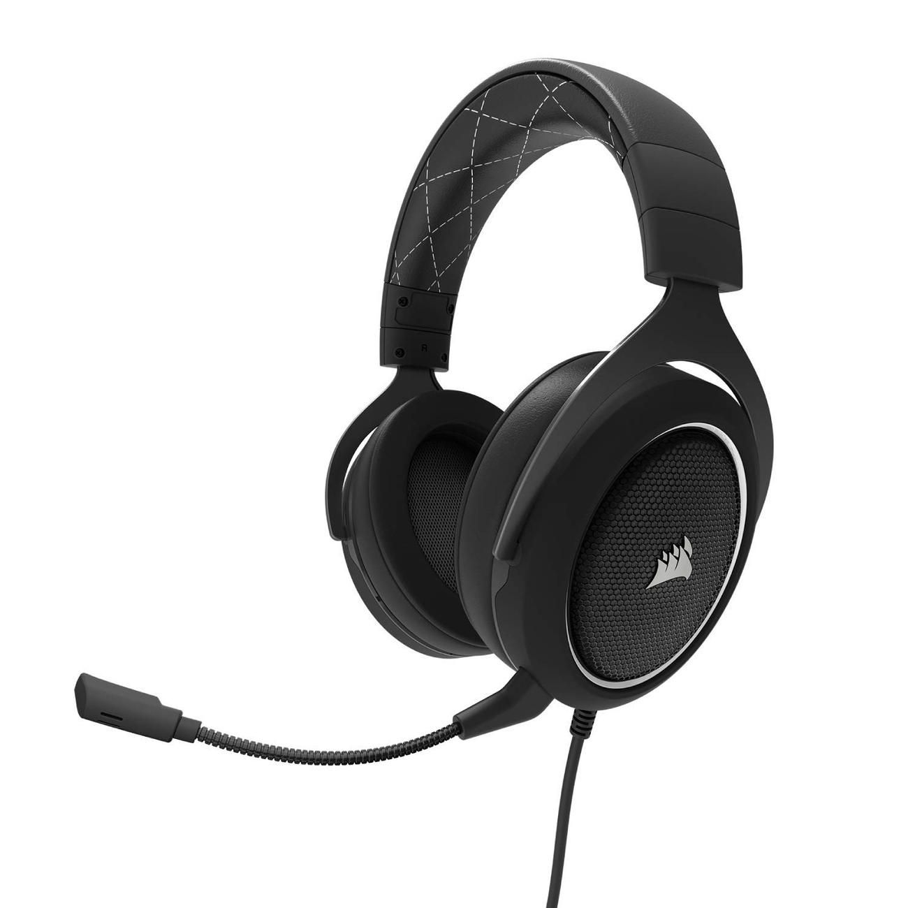 HEADSET GAMER CORSAIR HS60 PRETO/BRANCO SURROUND 7.1 CA-9011174-NA