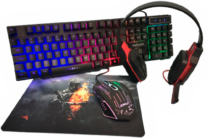 Kit Gamer Teclado| HeadSet | Mouse | MousePad