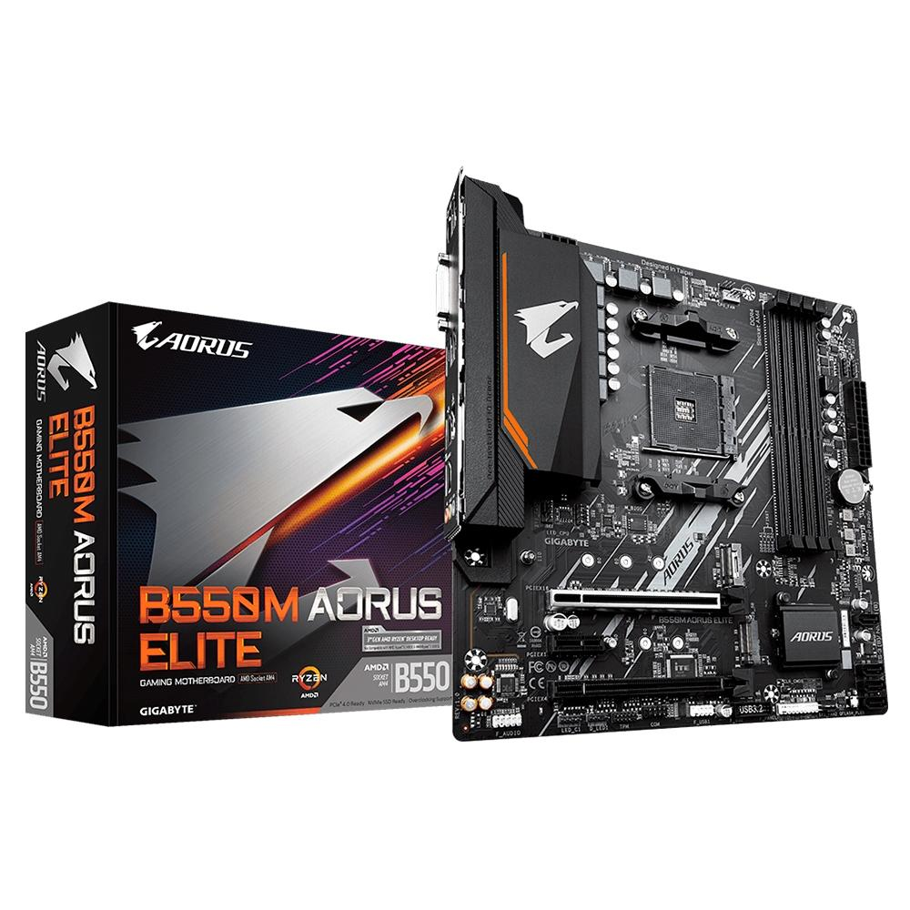 Kit Upgrade AMD Ryzen 5 3600 / Placa Mãe Gigabyte B550M Aorus Elite