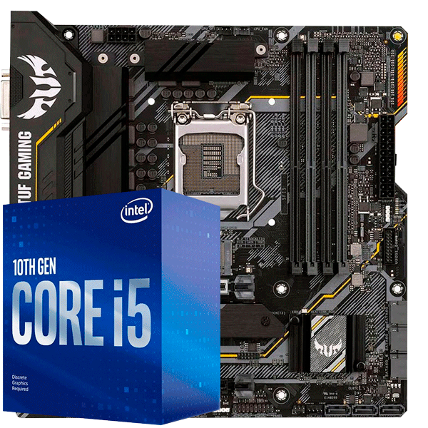 Kit Upgrade Intel i5 10400F / Placa Mãe Asus Tuf B460M Plus
