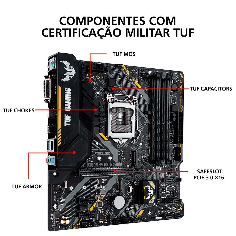KIT UPGRADE INTEL I3 9100F / PLACA MÃE ASUS TUF B360M-PLUS GAMING