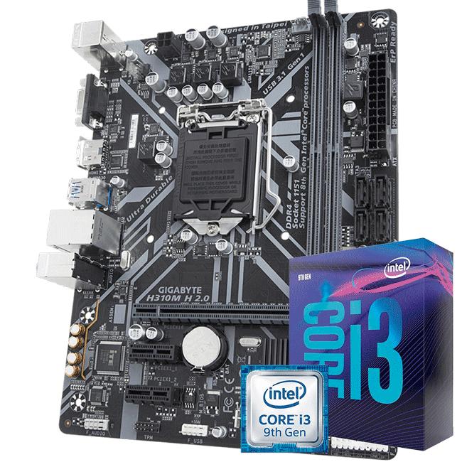 Kit Upgrade Intel i3 9100f / Placa Mãe Gigabyte H310M H 2.0