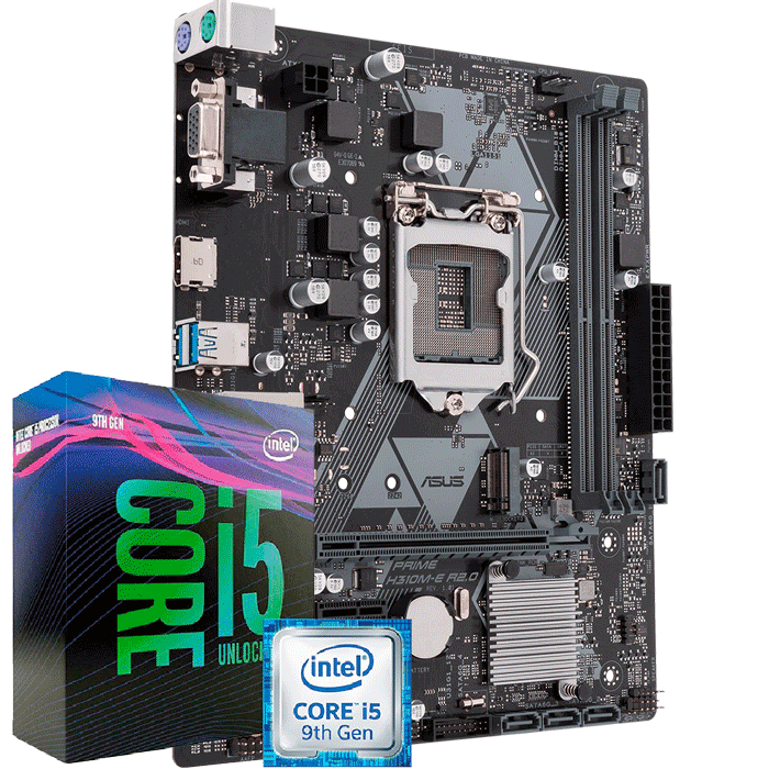 Kit Upgrade Intel I5 9400F / Placa Mãe Asus Prime H310M-E R2.0/BR