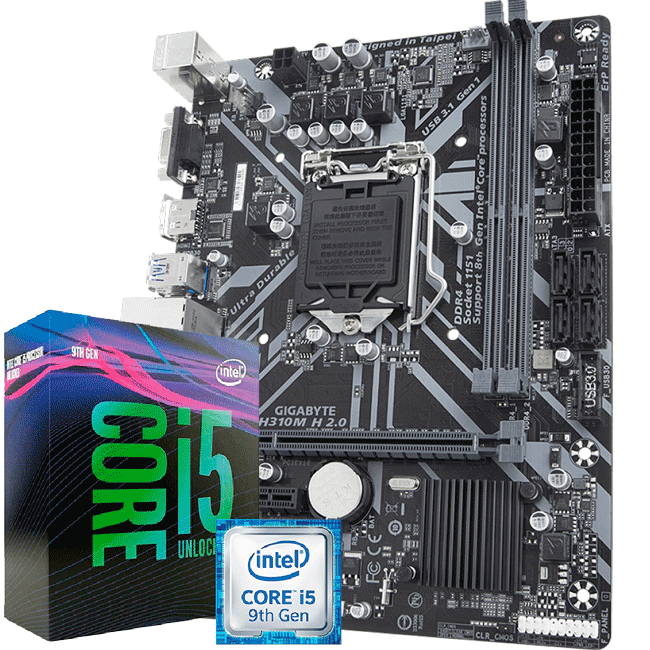 Kit Upgrade Intel i5 9400f / Placa Mãe Gigabyte H310M H 2.0