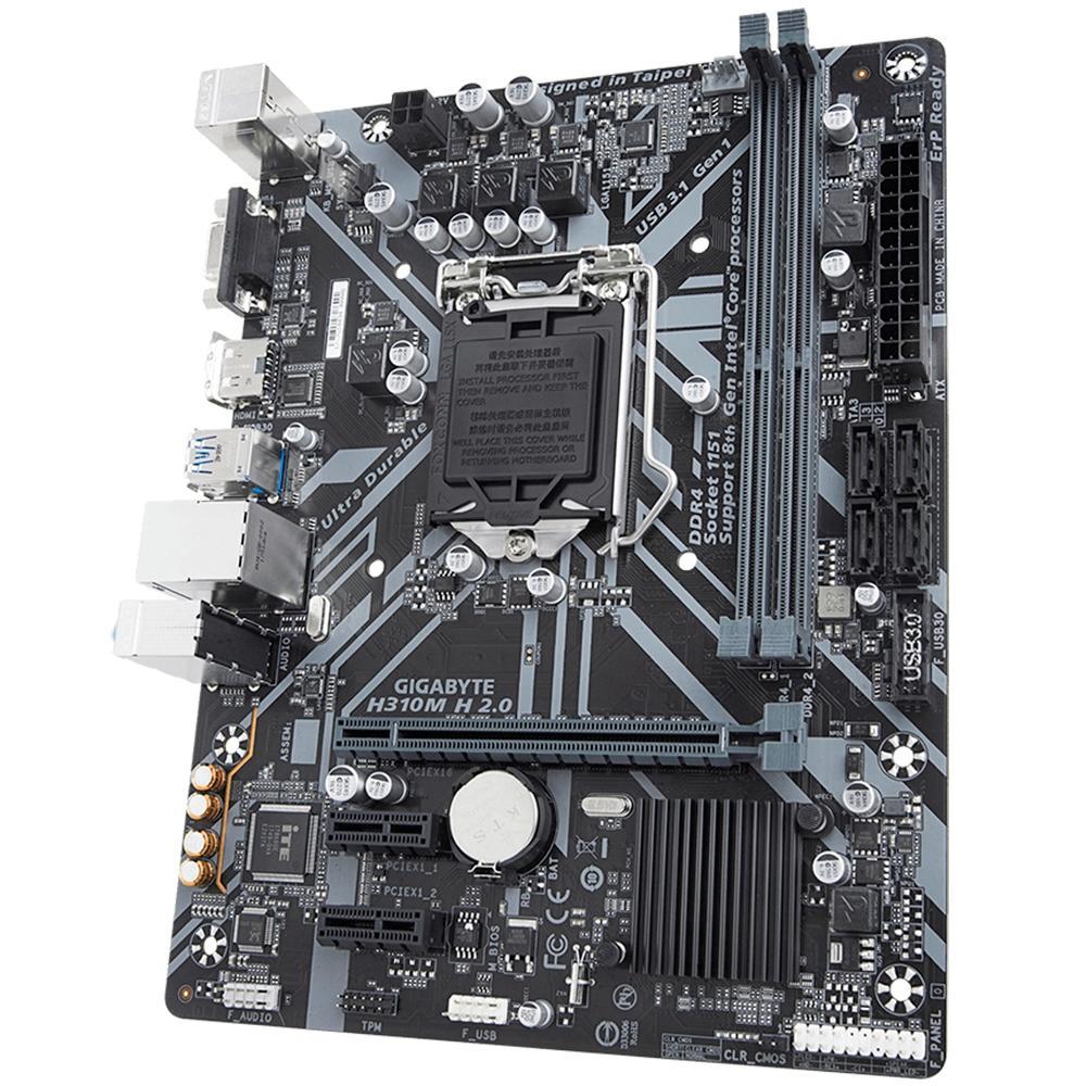 Kit Upgrade Intel i5 9400f / Placa Mãe Gigabyte H310M H 2.0 / Memória Kingston Hyperx 8gb 2666mhz
