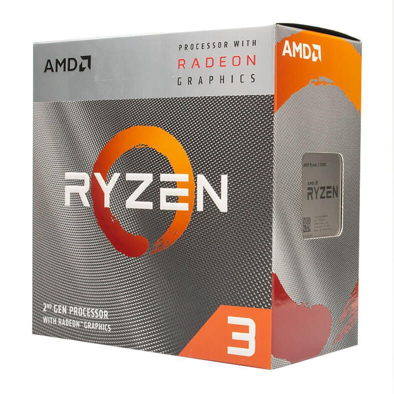 KIT UPGRADE PROCESSADOR AMD RYZEN 3 3200G / PLACA MÃE ASUS PRIME A320M-K / MEMÓRIA HYPERX 2x4GB 2400MHZ
