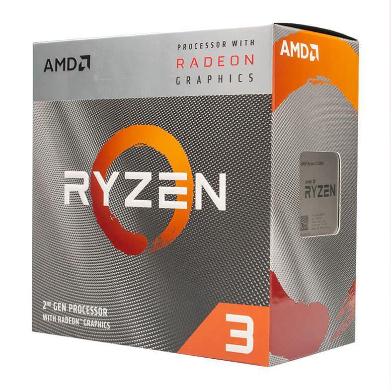 KIT UPGRADE PROCESSADOR AMD RYZEN 3 3200G / PLACA MÃE ASUS PRIME A320M-K / MEMÓRIA HYPERX 4GB 2400MHZ