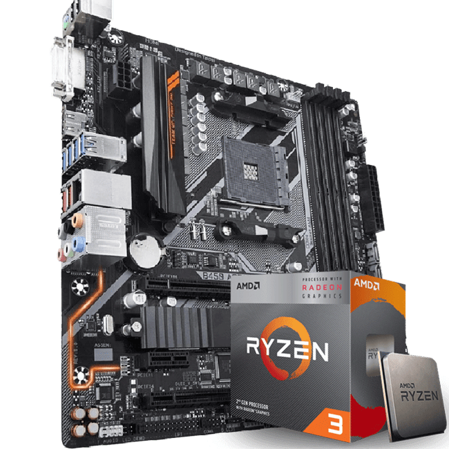 Kit Upgrade AMD Ryzen 3 3200G / Placa Mãe Gigabyte B450 Aorus M
