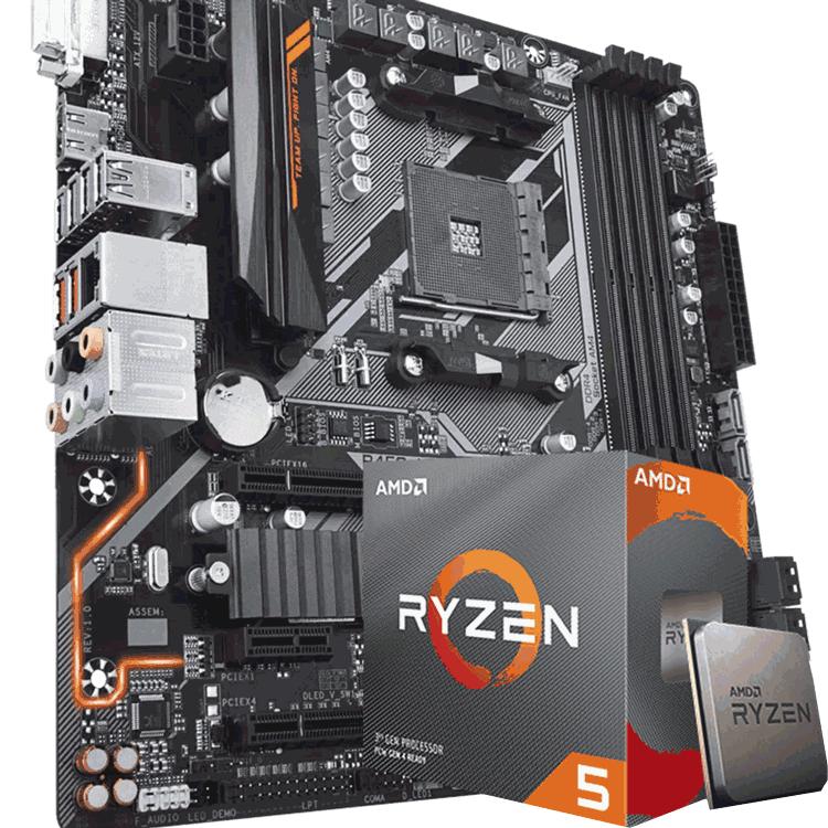 Kit Upgrade Processador AMD Ryzen 5 3600 / Gigabyte  B450 Aorus M