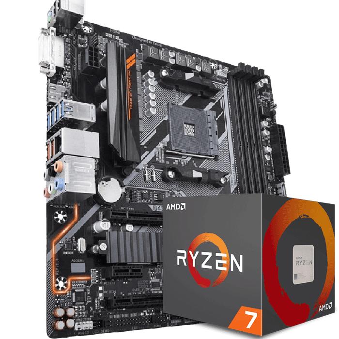 KIT UPGRADE PROCESSADOR AMD RYZEN 7 2700 / PLACA MÃE GIGABYTE B450 AORUS M