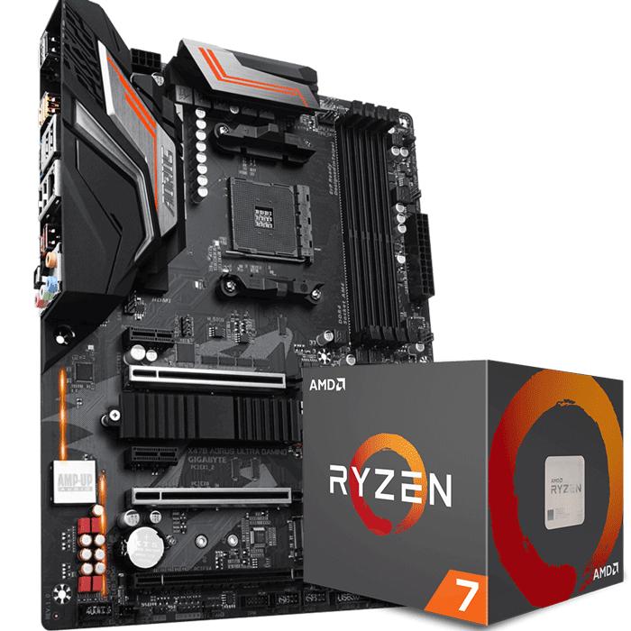 KIT UPGRADE PROCESSADOR AMD RYZEN 7 2700 / PLACA MÃE GIGABYTE X470 AORUS ULTRA GAMING