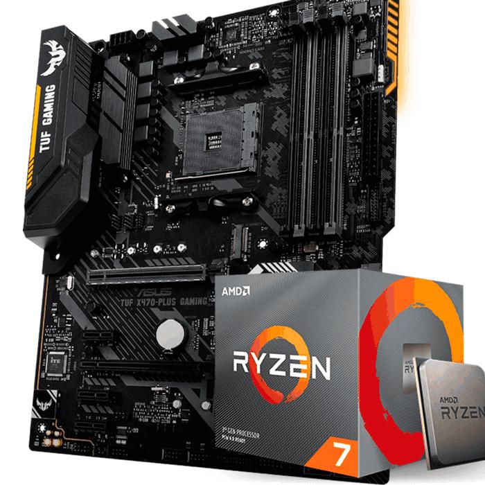 KIT UPGRADE PROCESSADOR AMD RYZEN 7 3700X / PLACA MÃE ASUS TUF X470 PLUS
