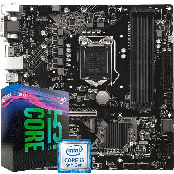 Kit Upgrade Processador Intel I5 9400F / Placa Mãe MSI B360M PRO VDH