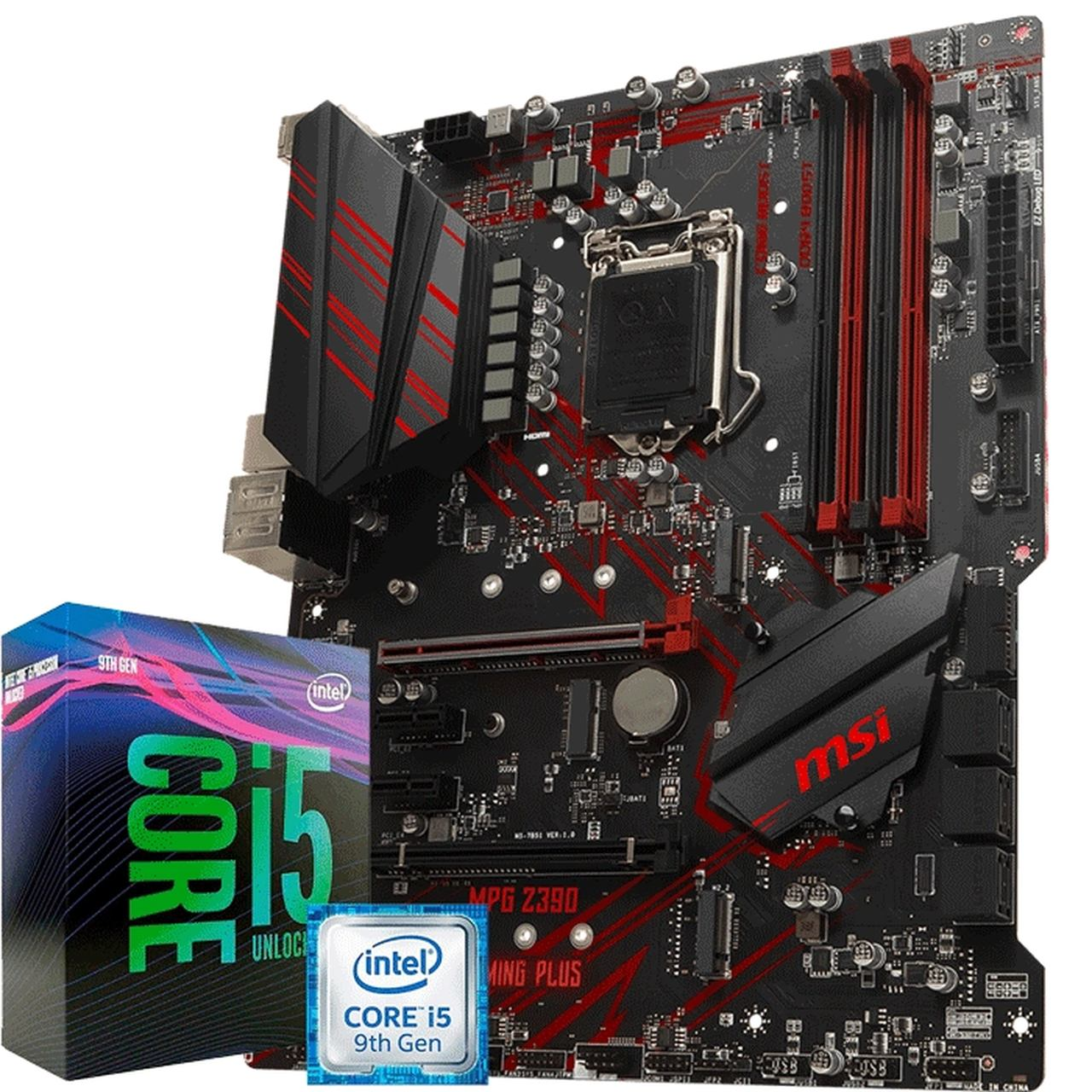 KIT UPGRADE PROCESSADOR INTEL I5 9600K / PLACA MÃE MSI Z390 MPG GAMING PLUS