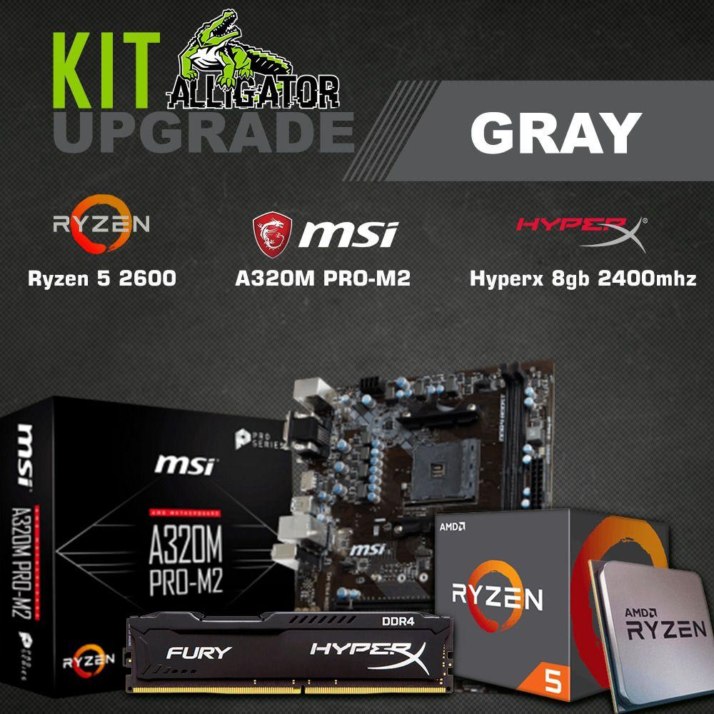 Kit Upgrade Ryzen 5 2600 / 8GB 2400Mhz Hyperx/ MSI A320M PRO M2