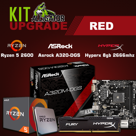 Kit Upgrade Ryzen 5 2600 /8Gb Hyperx 2666Mhz / Asrock A320-DGS