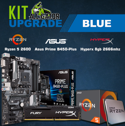 Kit Upgrade Ryzen 5 2600 /8Gb Hyperx 2666Mhz /Asus Prime B450 Plus