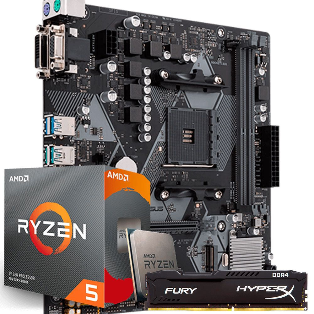 KIT UPGRADE RYZEN 5 3600 / ASUS B450M-K / 8GB 2400MHZ HYPERX