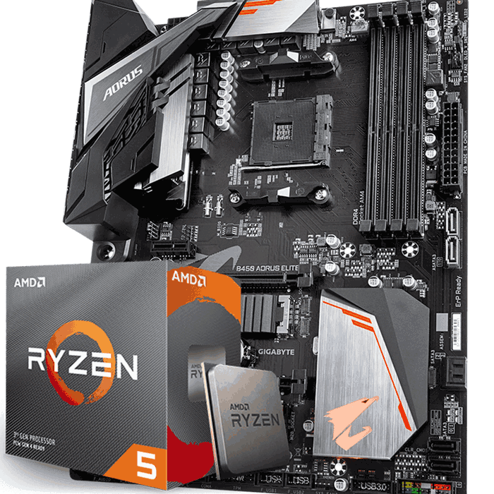 KIT UPGRADE PROCESSADOR AMD RYZEN 5 3600 / GIGABYTE B450 AORUS ELITE