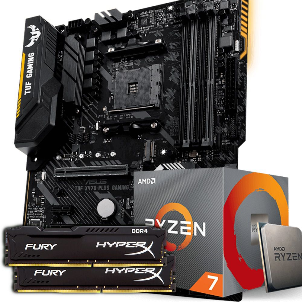 KIT UPGRADE RYZEN 7 3700X / ASUS TUF X470 PLUS / HYPERX 2X8GB 2400MHZ