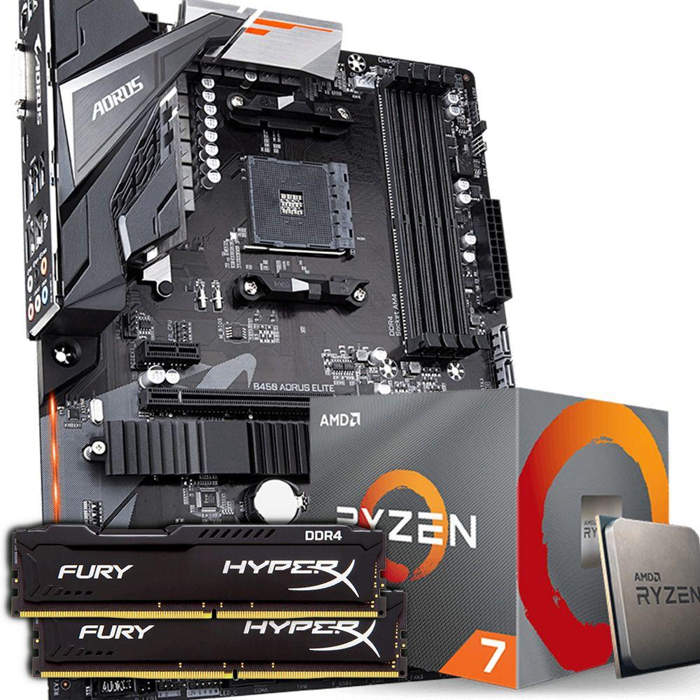 KIT UPGRADE RYZEN 7 3700X / GIGABYTE B450 AORUS ELITE / HYPERX 2X8GB 2400MHZ