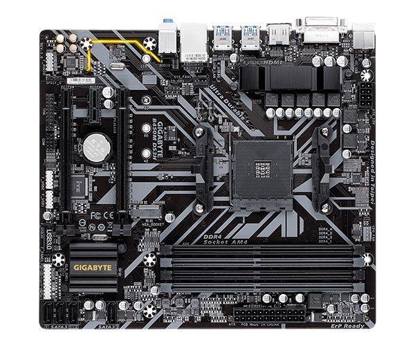 PLACA MÃE GIGABYTE B450M DS3H CHIPSET B450 AMD AM4 MATX DDR4