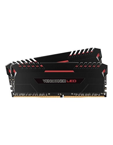 Memória Corsair Vengeance LED 16GB (2x8GB) 3000Mhz DDR4 CL15 Red
