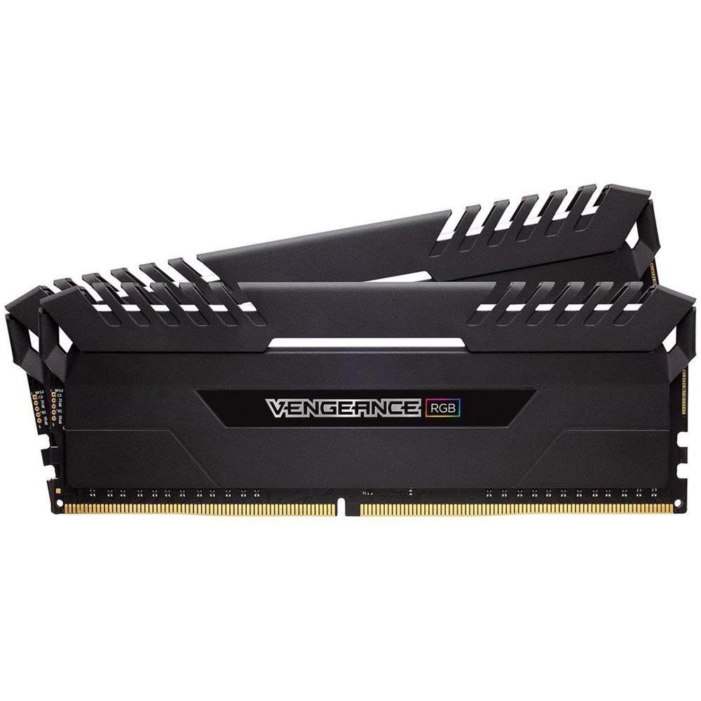 MEMORIA CORSAIR VENGEANCE RGB PRO 16GB (2X8) DDR4 3000MHZ PRETA